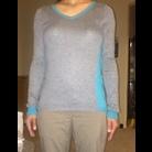 Thumb block sweater