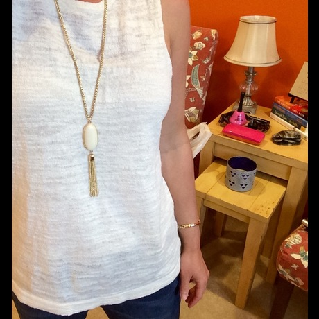 Lightbox white necklace