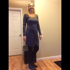Thumb grey scrunch dress