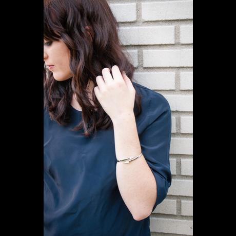 Lightbox rebecca minkoff pave triangle hinge bracelet