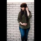 Thumb loyal hana pleated woven blouse