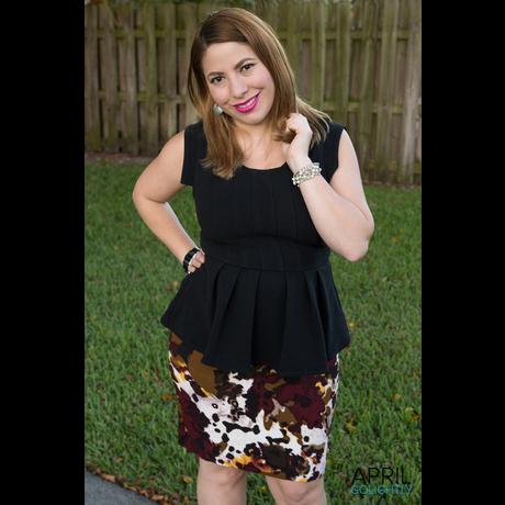 Lightbox peplum and pencil skirt 1058