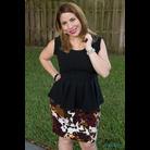 Thumb peplum and pencil skirt 1058