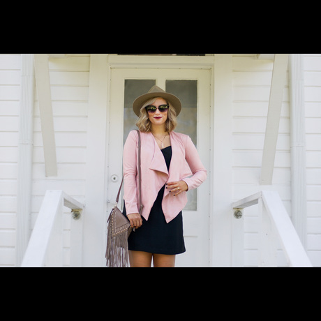 Lightbox pink suede jacket1
