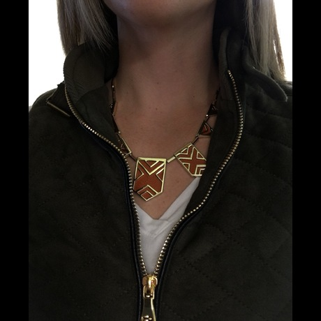 Lightbox house of harlow caged sig necklace