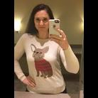 Thumb bulldog sweater