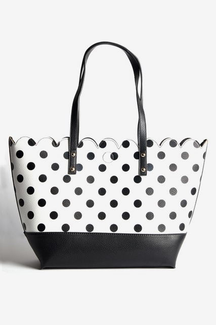 Scallop Edge Open Tote