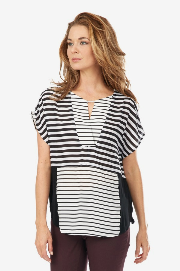 Inverted Block Stripe Top