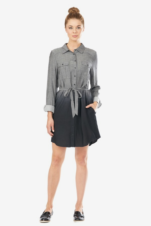 Ombre Shirt Dress