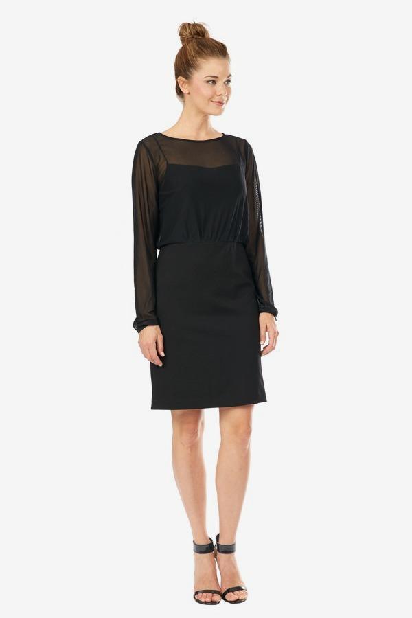 Chiffon Bodice Dress