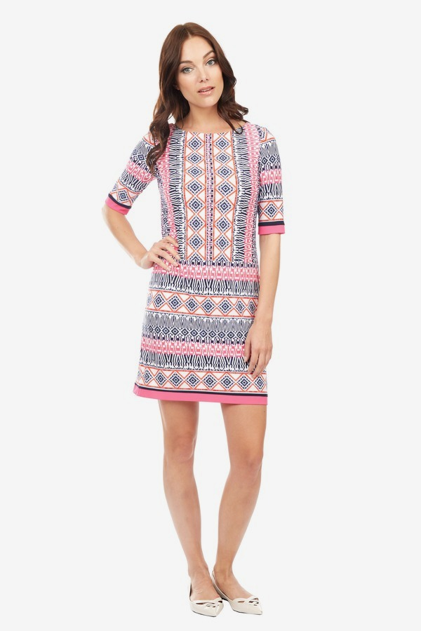 Multi-Printed Shift Dress