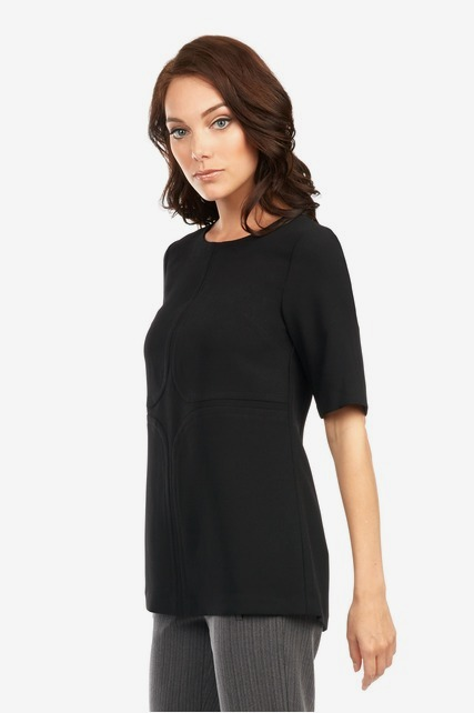 Front Seamed Boxy Tunic