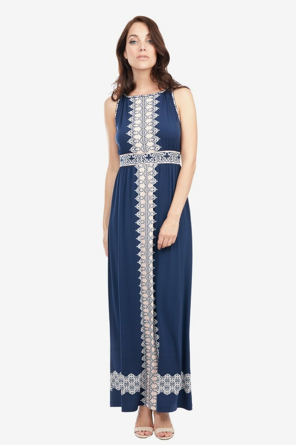 Printed Matte Maxi Dress
