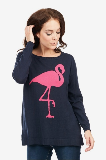Oversized Flamingo Pullover