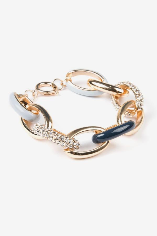 Enamel Link Bracelet