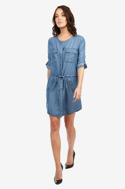 Denim Tunic Top