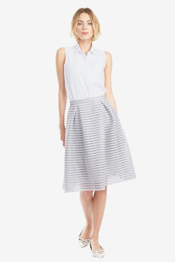 Mesh Midi Bubble Skirt