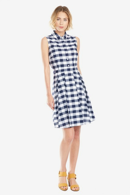 Gingham Collared Dress