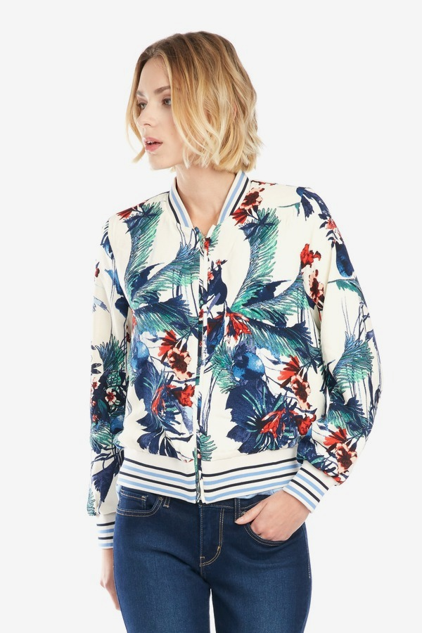 Tropical Print Bomber