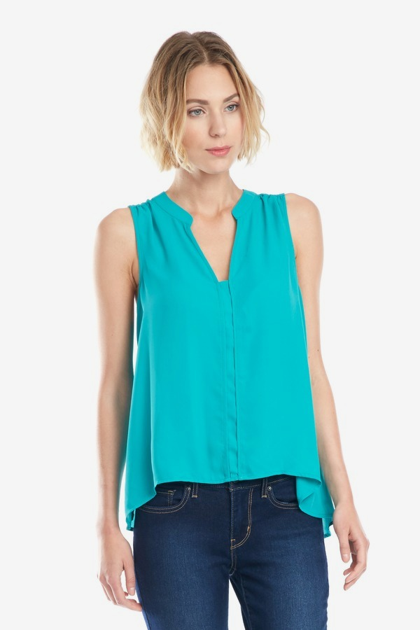 Bright Woven Panel Top