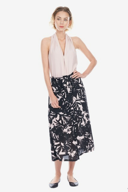 Palm Printed Skirt
