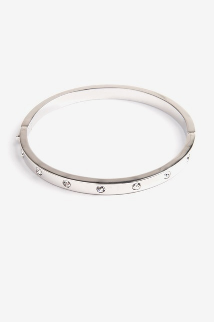 Enamel Stone Hinge Bangle