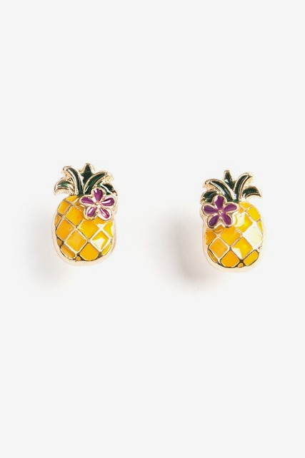 Tropical Pineapple Studs