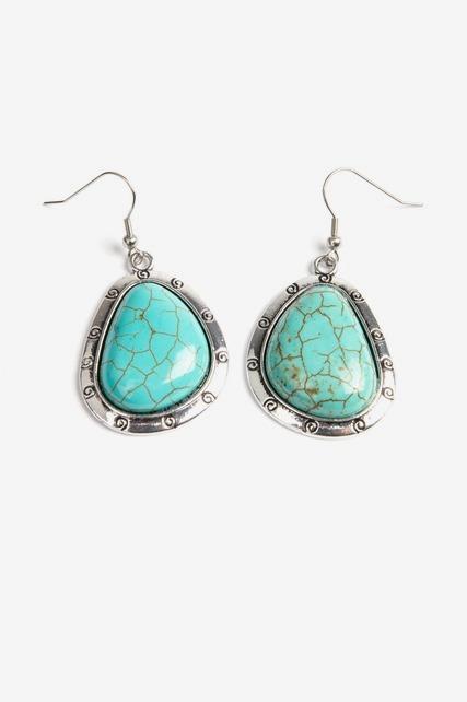 Organic Turquoise Earring