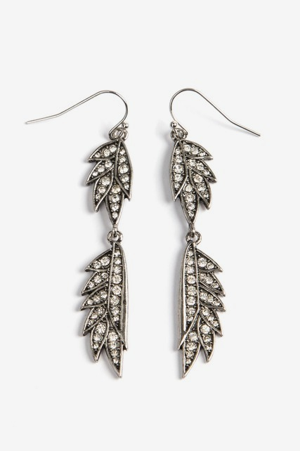 Double Leaf Drop Earrings