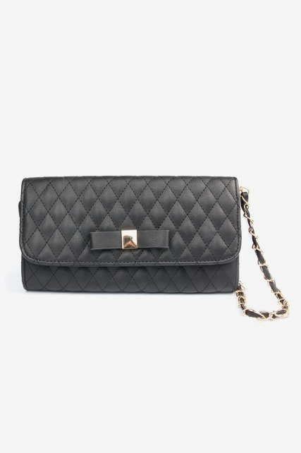Bow Quilted Crossbody