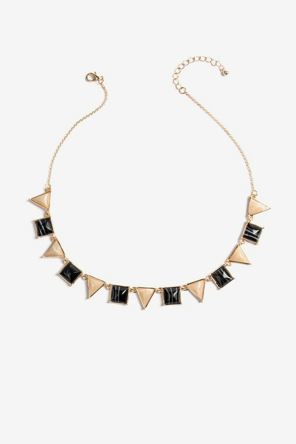 Ivory & Jet Bib Necklace