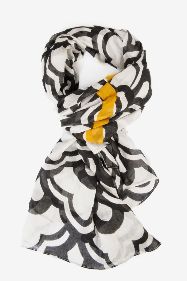 Citron Stripe Scarf