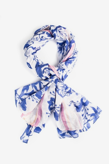 Floral Striped Scarf