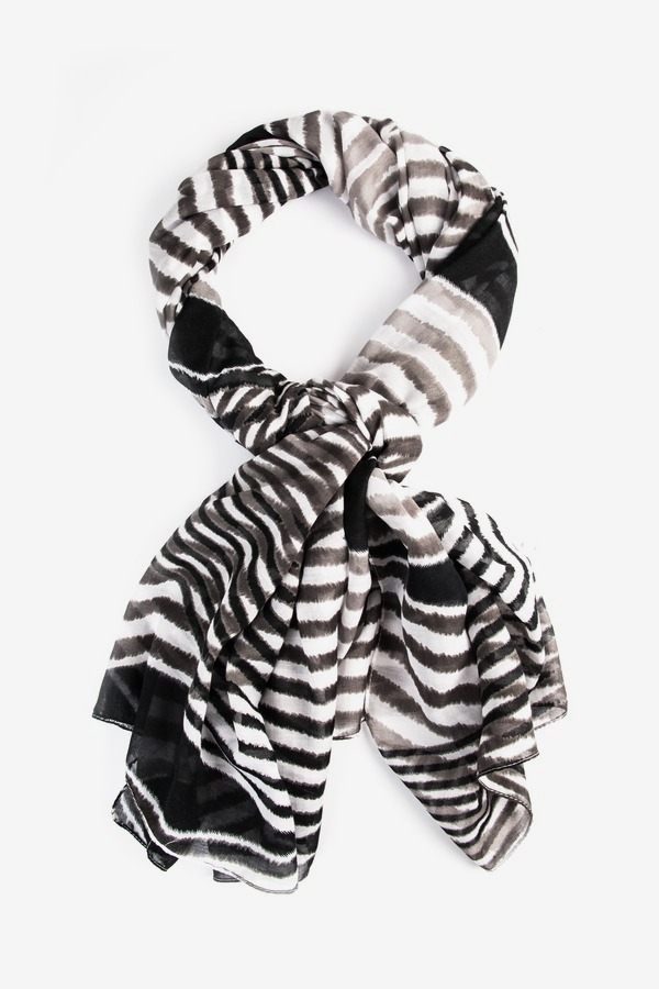 Abstract Stripe Mix Scarf