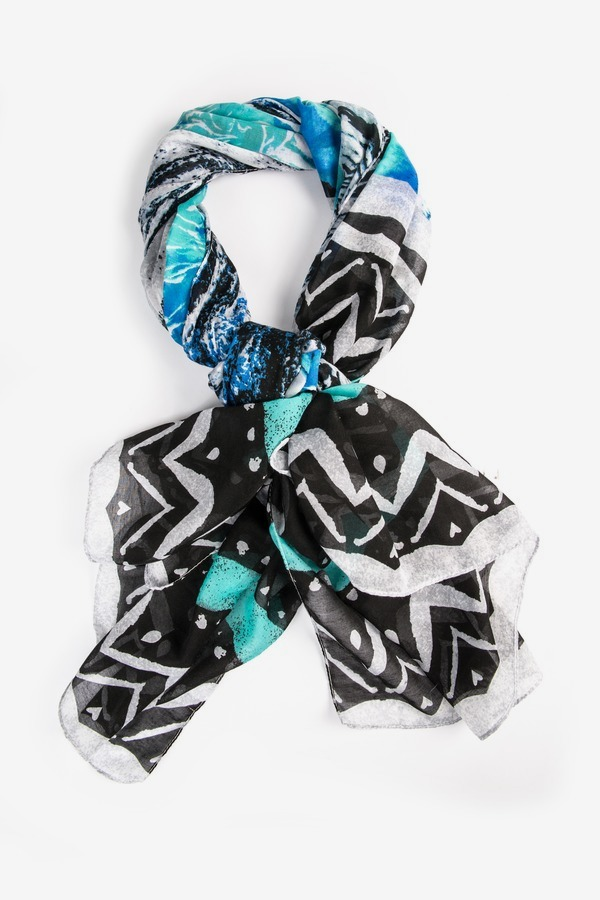 Blue Chevron Scarf