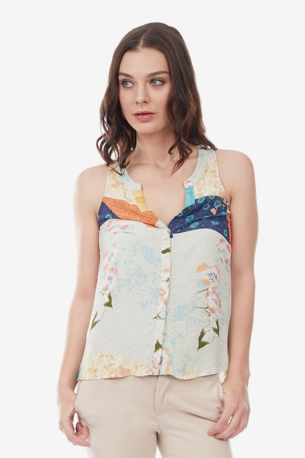 Patch Pattern Top