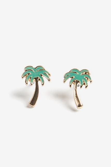 Palm Tree Studs