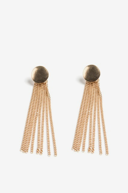Button Tassel Earrings
