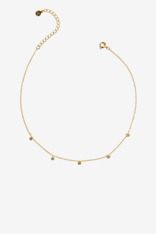 5 Disc Choker Necklace