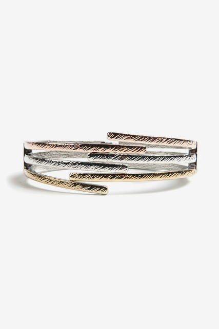Mixed Metal Hinge Cuff