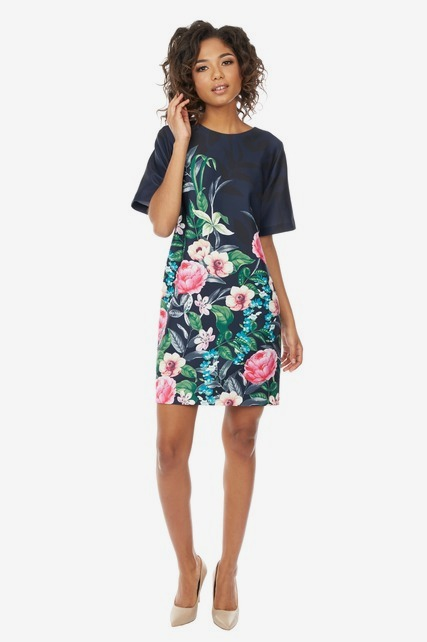 Rose Scuba Sheath Dress