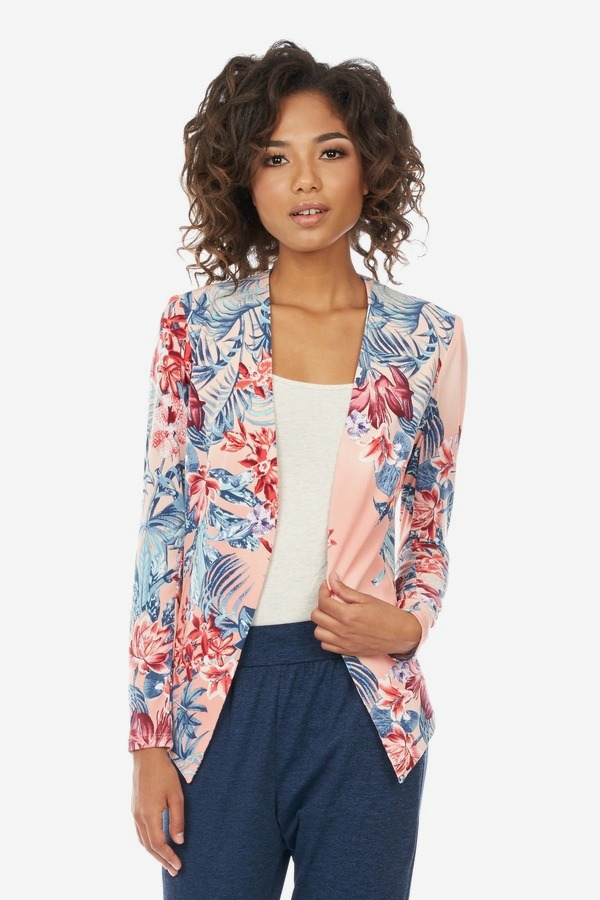 Floral Open Front Jacket