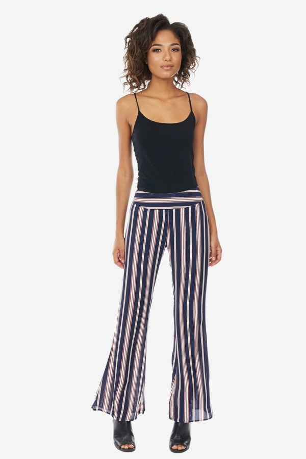 Sheer Striped Flares