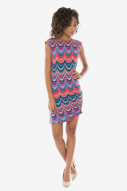 Retro Ruched Dress
