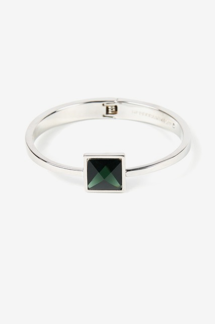 Square Stone Hinge Bangle