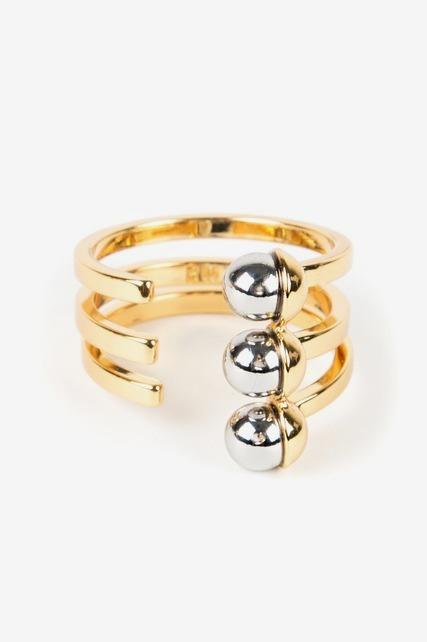 Two Tone Bead Wrap Ring