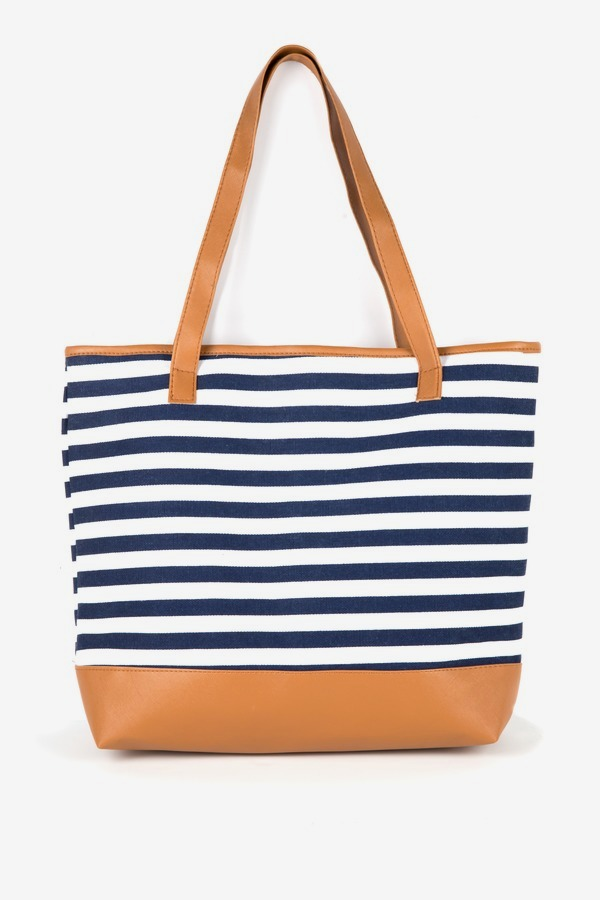 Nautical Stripe Tote