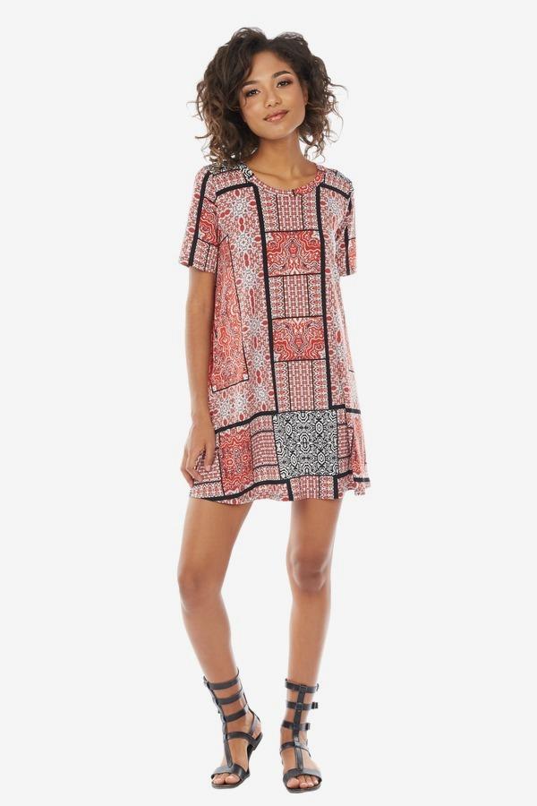 Printed Jersey Tee Dress