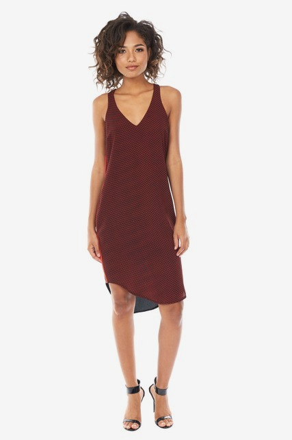 Contrast Racerback Dress