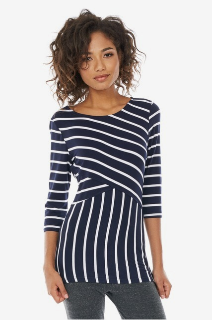Crossover Striped Top